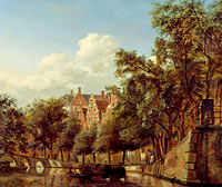 View of the Herengracht, Amsterdam, from the Leliegracht
