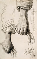 Two Studies of a Right Hand