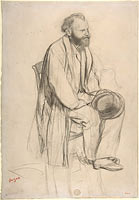 Édouard Manet, Seated, Holding His Hat