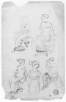 Women in Classical Dress (from Sketchbook) (1)