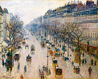 Camille Pissarro: The Boulevard Montmartre on a Winter Morning