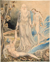 Angel of the Divine Presence Bringing Eve to Adam (The Creation of Eve: And She Shall be Called Woman) (recto); Sketch for the same (verso)