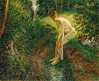 Camille Pissarro: Bather in the Woods