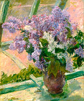 Mary Cassatt: Lilacs in a Window (Vase de Lilas a la Fenetre)