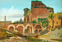 Johann Adam Klein: The Basilica of Constantine, Rome