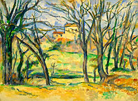 Paul Cézanne: Trees and Houses Near the Jas de Bouffan