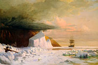 William Bradford: An Arctic Summer: Boring Through the Pack in Melville Bay