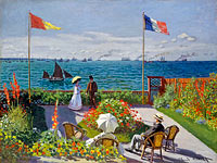 Claude Monet: Garden at Sainte-Adresse (2)