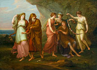 Ангелика Кауфман: Telemachus and the Nymphs of Calypso