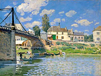 Альфред Сислей: The Bridge at Villeneuve-la-Garenne