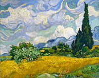 Vincent van Gogh: Wheat Field with Cypresses