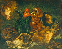 Copy after Delacroix's Bark of Dante