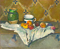 Paul Cézanne: Still Life with Jar, Cup, and Apples
