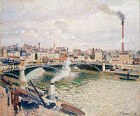 Camille Pissarro: Morning, An Overcast Day, Rouen