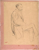 Édouard Manet Seated, Right Profile