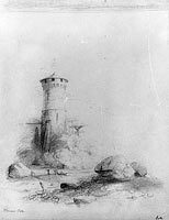 Landscape with Tower (from McGuire Scrapbook)
