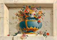Michel Bruno Bellengé: Vase of Flowers in a Niche