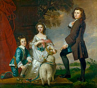 Joshua Reynolds: Thomas (1740–1825) and Martha Neate (1741–after 1795) with His Tutor, Thomas Needham