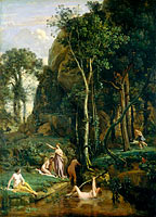 Jean-Baptiste-Camille Corot: Diana and Actaeon (Diana Surprised in Her Bath)