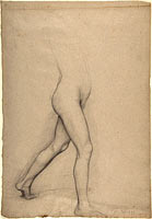 Study of a Girl's Legs for the painting Young Spartans