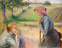 Camille Pissarro: Two Young Peasant Women