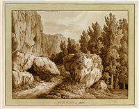 Якоб Филипп Хаккерт: A Rocky Landscape at Civita Castellana