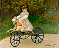 Клод Моне: Jean Monet (1867–1913) on His Hobby Horse