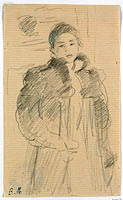 Study for Young Girl in a Green Coat
