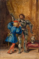 Göetz von Berlichingen Being Dressed in Armor by His Page George