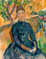 Paul Cézanne: Madame Cézanne (Hortense Fiquet, 1850–1922) in the Conservatory