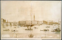 Panorama of Venice from the Bacino di San Marco, Including the Project for the Proposed Teatro Manin
