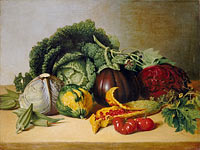 James Peale: Still Life: Balsam Apple and Vegetables