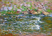 Claude Monet: Rapids on the Petite Creuse at Fresselines