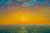John Frederick Kensett: Sunset on the Sea