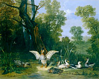 Jean-Baptiste Oudry: Ducks Resting in Sunshine