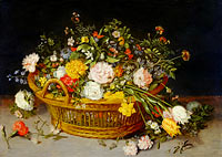 Jan Brueghel the Younger: A Basket of Flowers