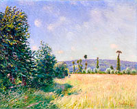 Alfred Sisley: Sahurs Meadows in Morning Sun