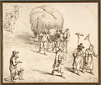 Peasants and Hay Wagon on a Country Road