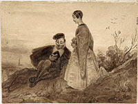 Man and Woman in a Landscape, possibly Faust and Marguerite