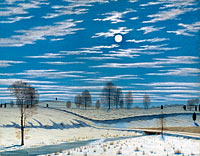 Henry Farrer: Winter Scene in Moonlight