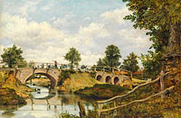 Frederick Waters Watts: An Old Bridge at Hendon, Middlesex