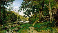 Henri-Joseph Harpignies: The Rocky Path in the Morvan (Chemin des roches dans le Morvan)