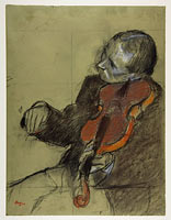 Violinist, Study for The Dance Lesson