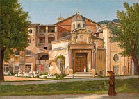 A Section of the Via Sacra, Rome (The Church of Saints Cosmas and Damian) (1)