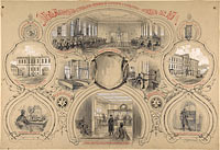 The main telegraph office newly built in St. Petersburg and opened 14 October 1862