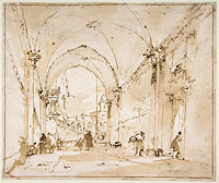 Architectural Capriccio: Vaulted Passageway Leading to a Square
