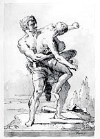 Hercules and Antaeus (with a ledge Below)