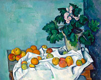 Paul Cézanne: Still Life with Apples and a Pot of Primroses (2)