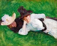 John Singer Sargent: Two Girls on a Lawn
