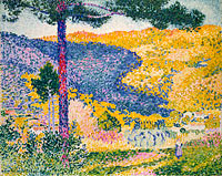 Henri-Edmond Cross: Valley with Fir (Shade on the Mountain)